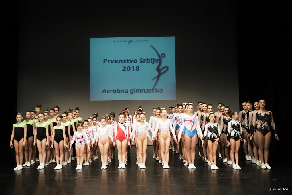Održano Prvenstvo Srbije u aerobnoj gimnastici