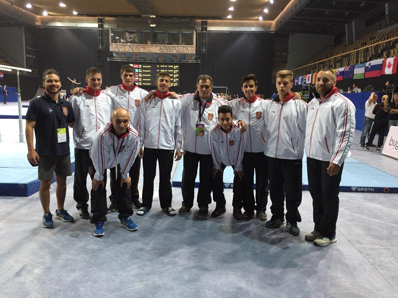 Reprezentacija Muške sportske gimnastike na FIG ART World Challenge Cup-u u Mađarskoj