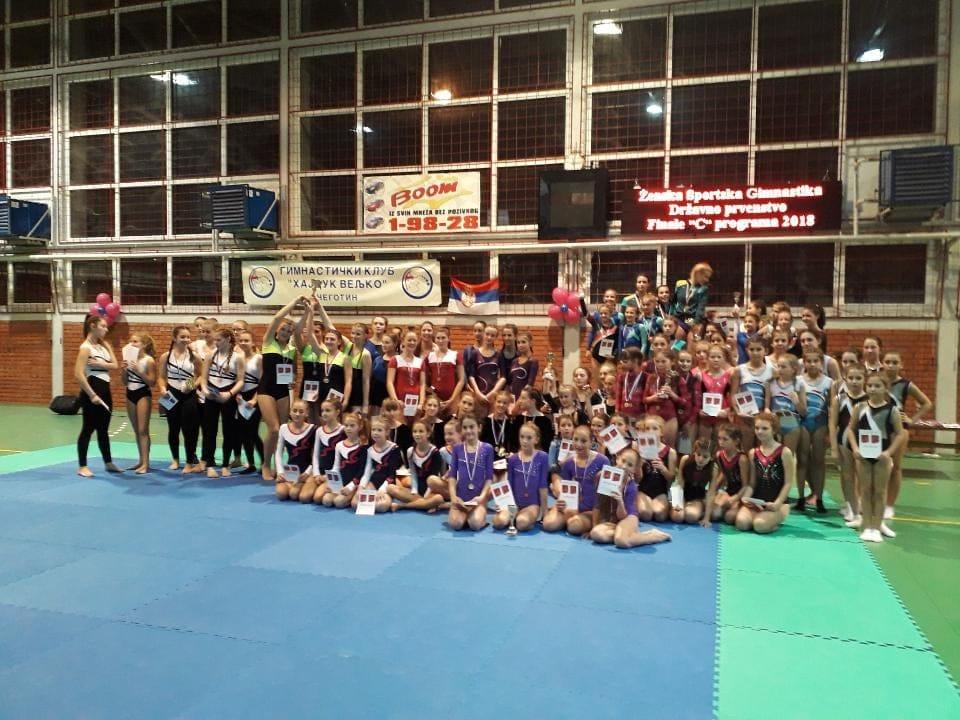 Održano Prvenstvo Srbije u ženskoj sportskoj gimnastici u C programu